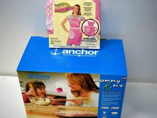 Anchor 6 pc  Bake Set and Apron  new