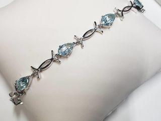Silver Top Bracelet  length 8  Flexible
