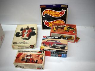 Box of Model Kits  Hot Wheels Decals
