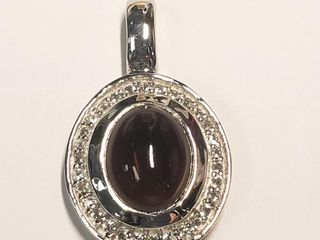 Silver Smoky Quartz Necklace (BK06-137) (D2)