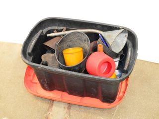 Tote of Assorted Funnels