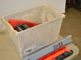 Tote of Safety Equipment