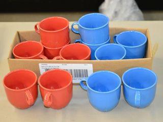 6  Blue    6  Red Ikea Mugs
