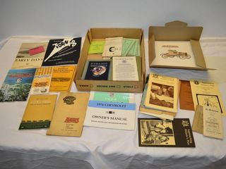 Tray of Old Manuals  Prints  Informational