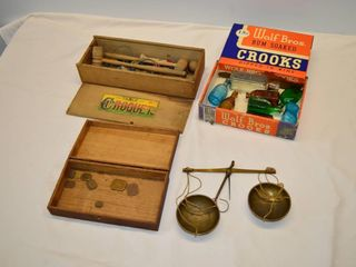 Grp  of Vintage Table Croquet Set  Balance