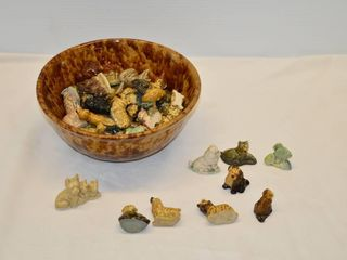 Bowl of Wade Figurines