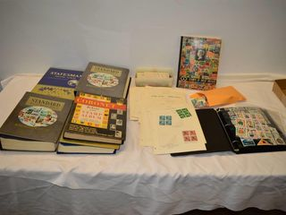 large lot of Stamp Albums and Collector Stamps