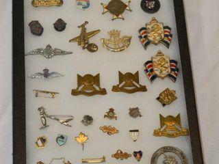 Display of Military Pins