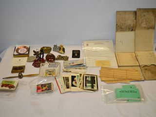 Tray of Assorted Items   Railroad Record Books