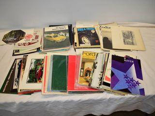 Box of Vintage Automotive Pamphlets