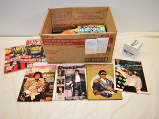 Box of Music Entertainment Magazines and Books