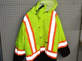 High Vis Winter Jacket with Hood