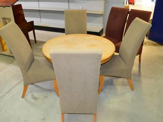 Pedestal Dining Table 9imperfect finish  and