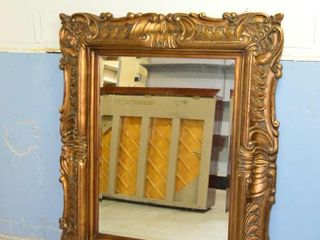 large Wall Mirror with Beveled Glass