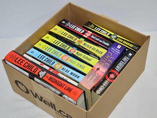 Box of  11  lee Child Books