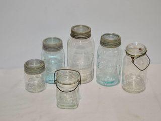 Box of  6  Vintage Canadian Canning Jars