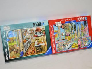2  Ravensburger Jigsaw Puzzles   Complete