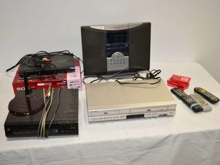 Box of Assorted Electronics   DVD  VHS Players