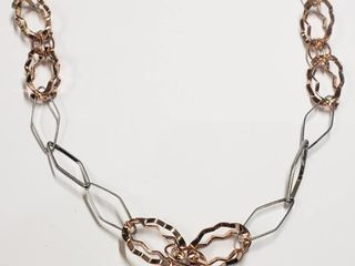 Silver Necklace  length 28inches   weight 22g