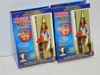 2  Magic Mesh Magnetic Screens