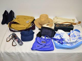 Box of Hats  Bags  Shoes  etc