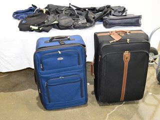 2  Suitcases and Assorted Bags