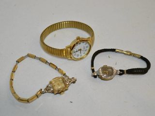 2  Bulova and  1  Timex Women s Watches