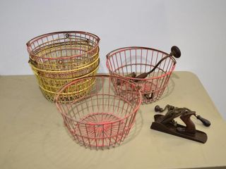 Wire Baskets and Vintage Tools