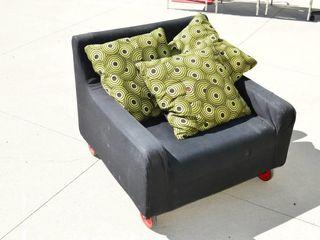 Wheeled Chair with Cushions