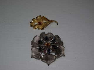 2  Sterling Brooches