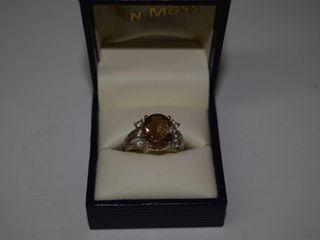 Sterling large Morganite Ring