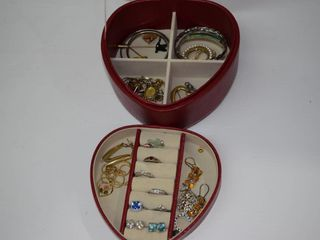 Jewelry Box with lots of Marked Sterling Jewelry
