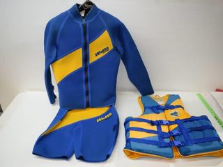 SeaDoo Wet Suit   life Jacket Sz Med