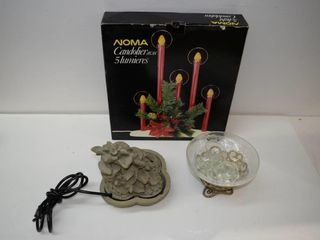 Bowl with Floating Candles  Waterfall  etc