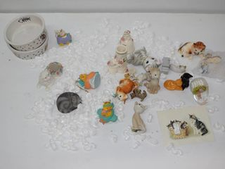 Cat   Easter Figurines  Cat Bowls