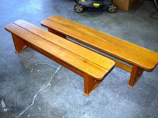 2  Benches 60  long 13  tall