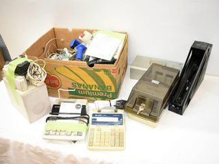 Box of Office Equipment  Telephones  Calculators