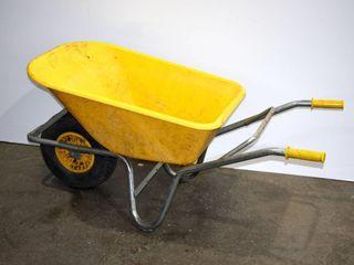 Yellow Wheel Barrow