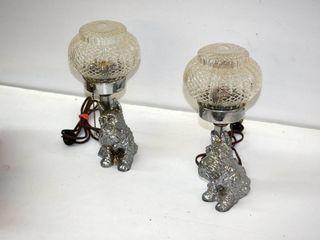 2  Scotty Dog lamps