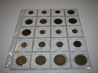 20 British Coins  some silver