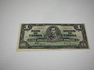 Canadian Bill 1937   Cut off Centre