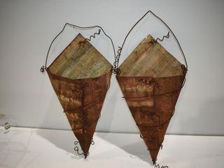 2  Rustic Hangers 25  long