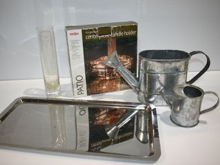 Centre Candle Holders  Watering Cans  etc