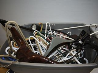 large Tote Full of Hangers