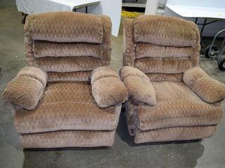 2  cloth recliners