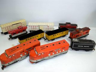 Grouping of MARX train engines and cars