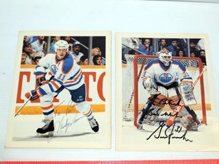 Signed Hockey Photos and stand