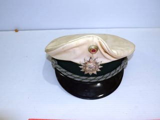 German Officers Cap  leather top