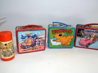 Vintage lunch Boxes and Thermos