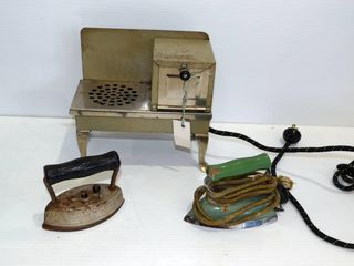 Toy Oven and  2  Irons